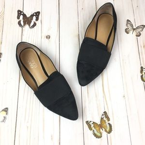 Franco Sarto 7.5 Black Pointed Flats